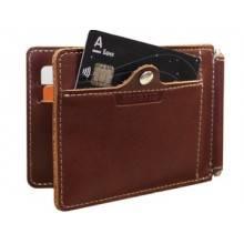 Зажим для денег с защитой от считывания ОК-S коричневый Apache RFID