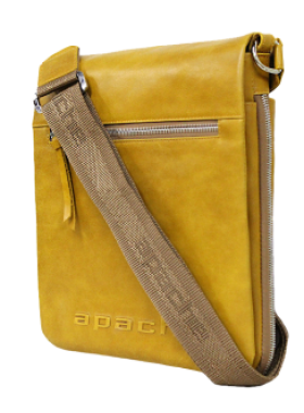 Сумка из натуральной кожи табачно-желтая СМ-6013-А Apache